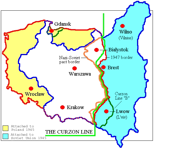 Map of Poland (1945) This Day in WWII History: Feb 4, 1945 ...