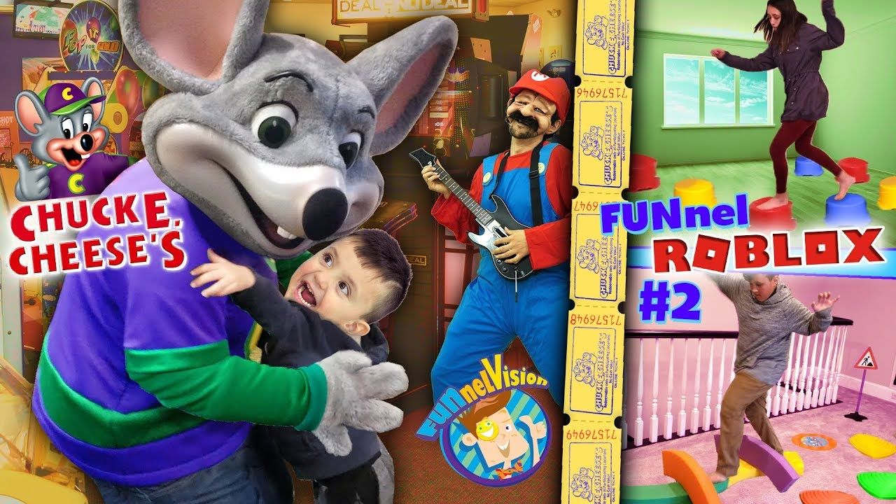 Shawn Goes To Chuck E Cheese S Funnel Fam Roblox Obby