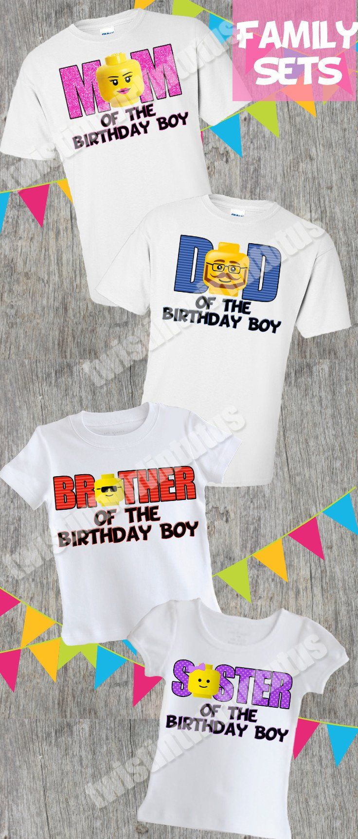 Lego Friends Custom Personaliz​e Birthday Party Favor Gift T-Shirt