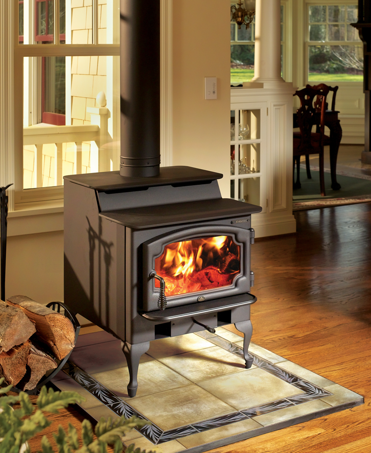 Endeavor Wood Stove Heats 1 200 2 000 Sq Ft And Has A Cooktop Surface Wood Heater Most Efficient Wood Stove Wood Burning Stove