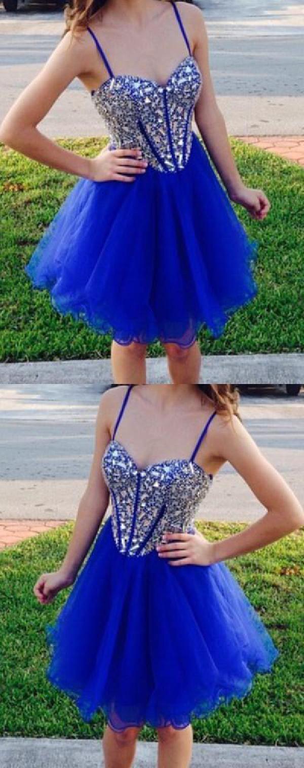 Custom made cute short homecoming dresses homecoming dresses blue