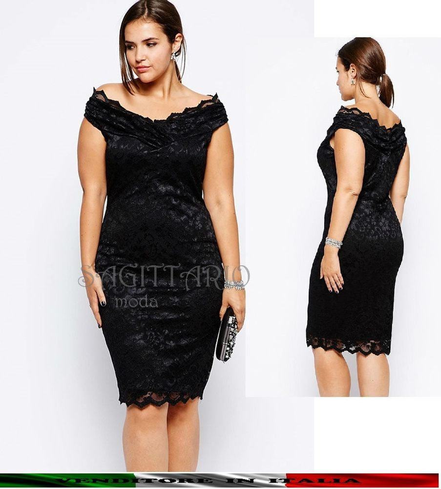 di modo attraente buona qualità vendita calda a buon mercato Vestito PIZZO taglia forte XXL plus size ELEGANTE CERIMONIA ...