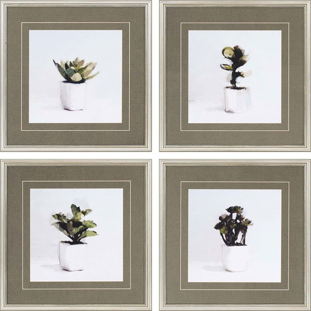 Succulents 4 Piece Framed Painting Print Set | Products | Pinterest ...