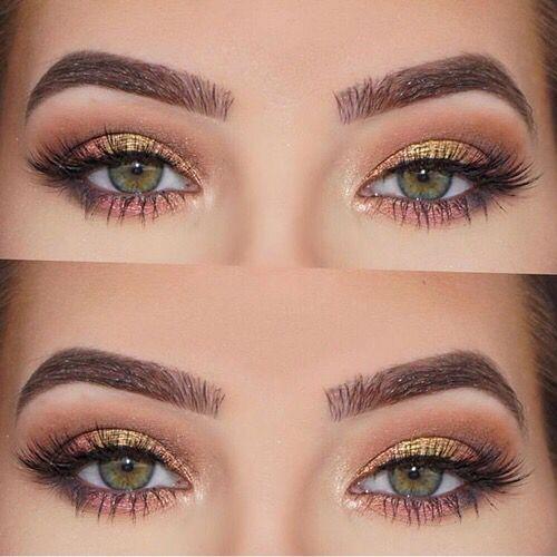 Warm Gold Fresh Pink Neutral Eye Makeup Is Art In 2019