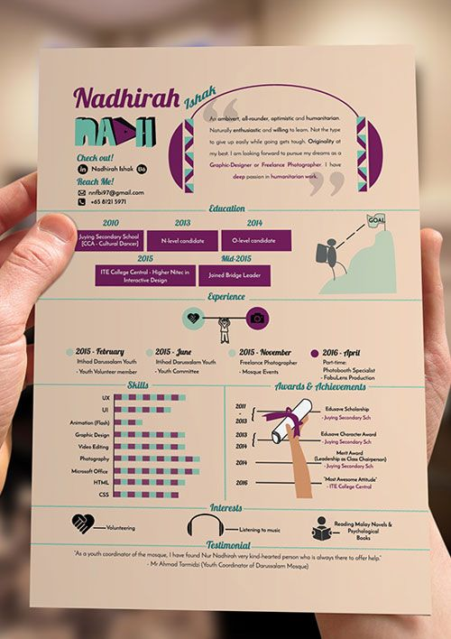 Resume Design Inspiration Creativeinfographicresumedesign  Daily Inspiration  Pinterest