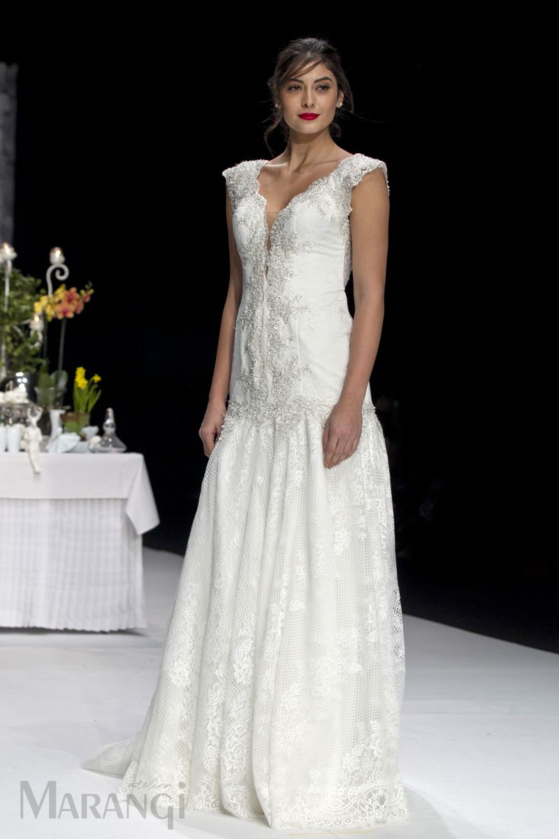 b32889a517f Νυφικό Φόρεμα Γοργονέ – 1027 Ρομαντικό νυφικό γοργονέ από ανάλαφρη ...