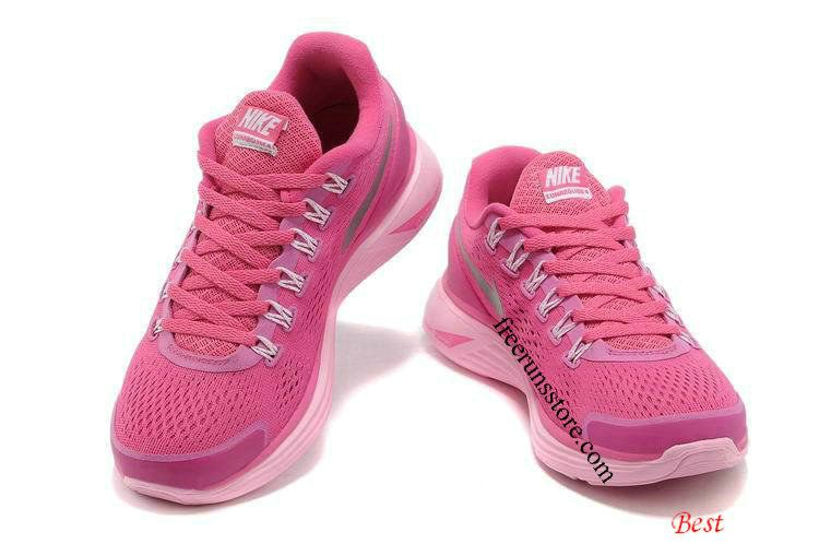 2d7ea1022062 Nike Lunarglide 4 Womens Fireberry Pearl Pink Reflect Silver 524978 ...