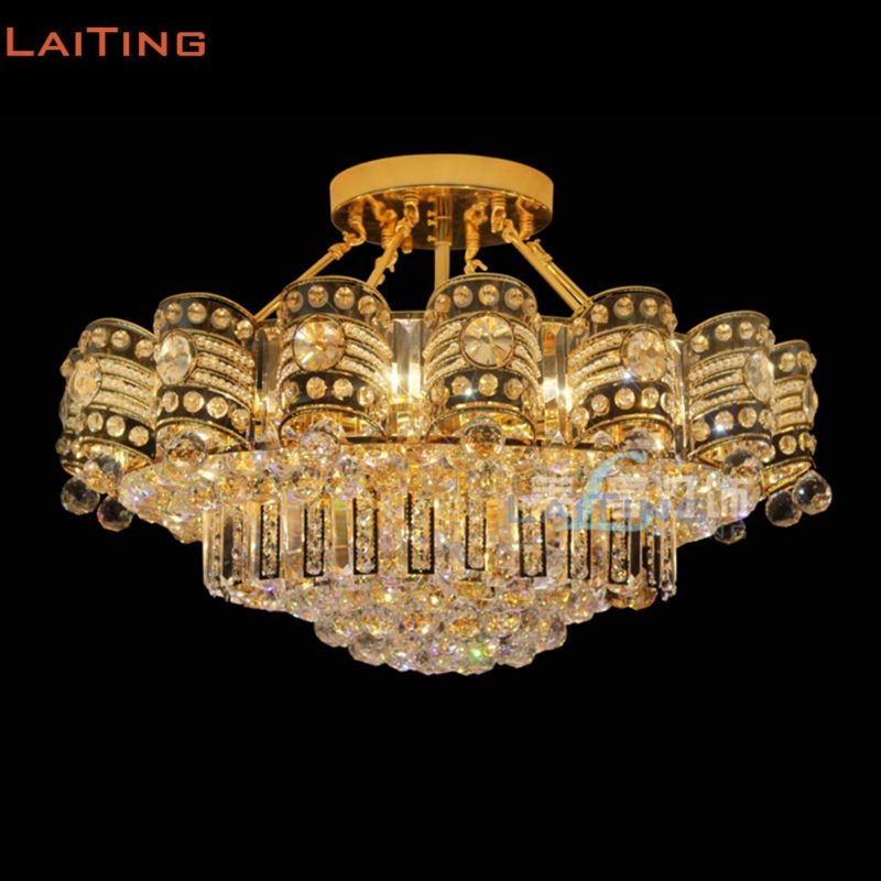 Direct Selling Luxury Traditional Indian Style Crystal Ceiling Light Lamps For Living Room Bedroom Lamps Living Room Crystal Ceiling Light Ceiling Lights