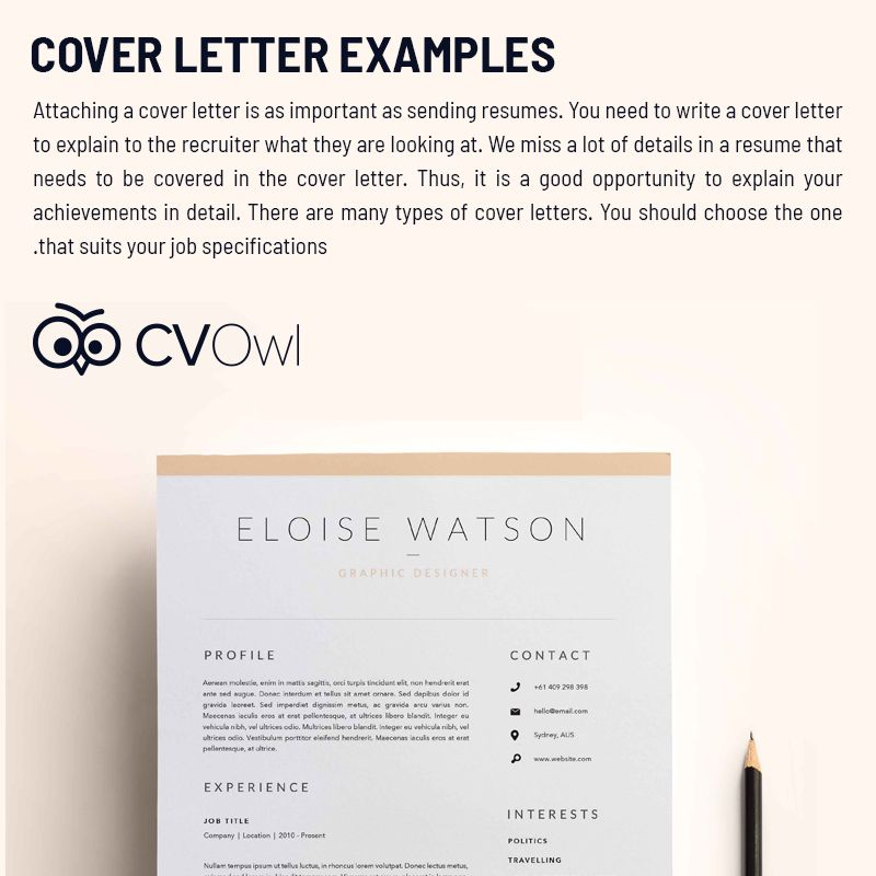 Attaching a cover letter is as important as sending