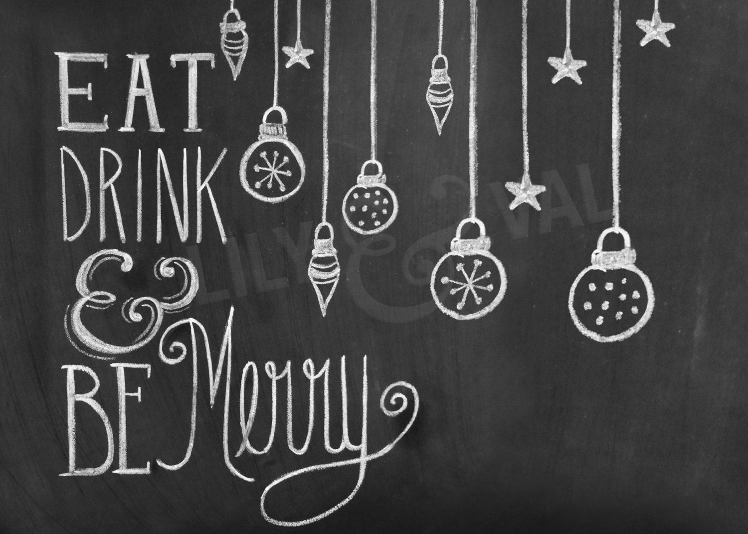 Eat Drink And Be Merry From Lilyandval Christmas Chalkboard Christmas Chalkboard Art Chalkboard Christmas Card