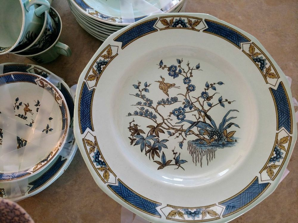 Blue Calyx Ware China Adams Wedgwood Group Serving Dish Adams