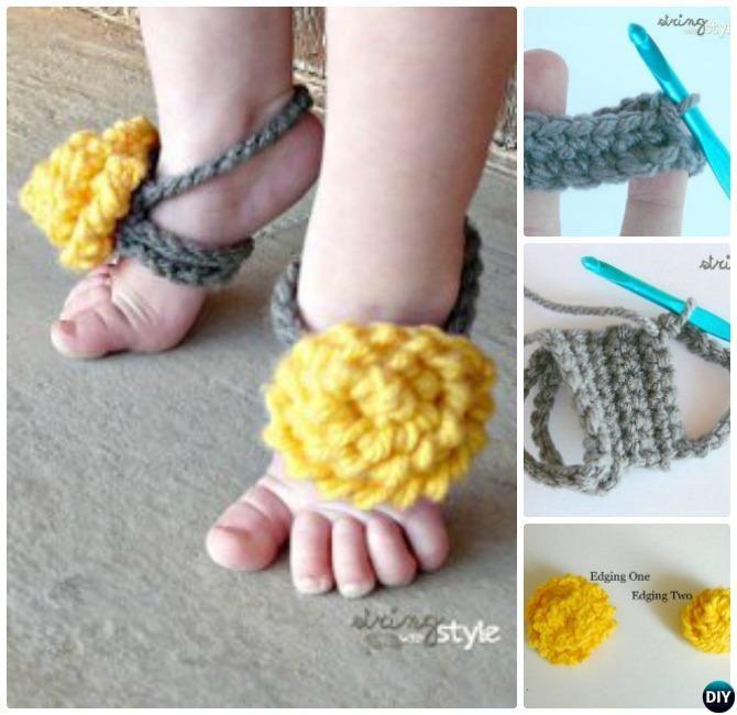Top 40 Free Crochet Barefoot Sandal Patterns Barefoot Sandals Crochet Pattern Crochet Barefoot Sandals Crochet Baby Barefoot Sandals