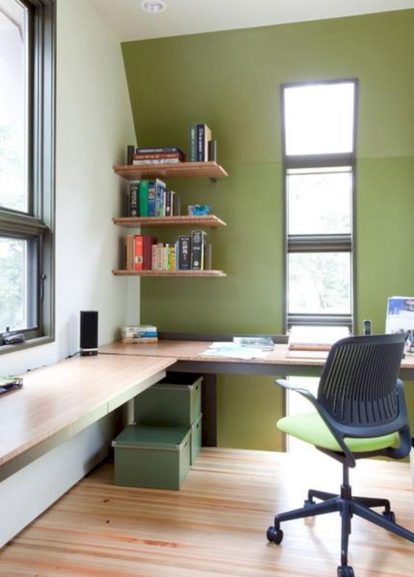 space saving office. Nice 35 Corner Office Design And Space Saving Furniture Placement Ideas Z