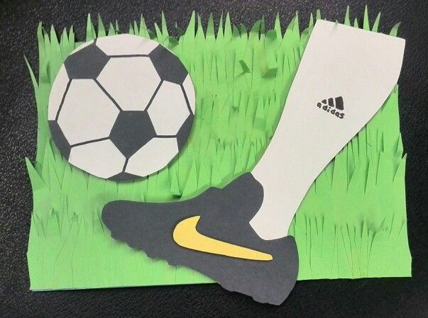 A Soccer Birthday Card You May Have Noticed The Adidas Nike Logos That S An Inside Joke Betw Kids Birthday Cards Handmade Birthday Cards Happy Birthday Cards