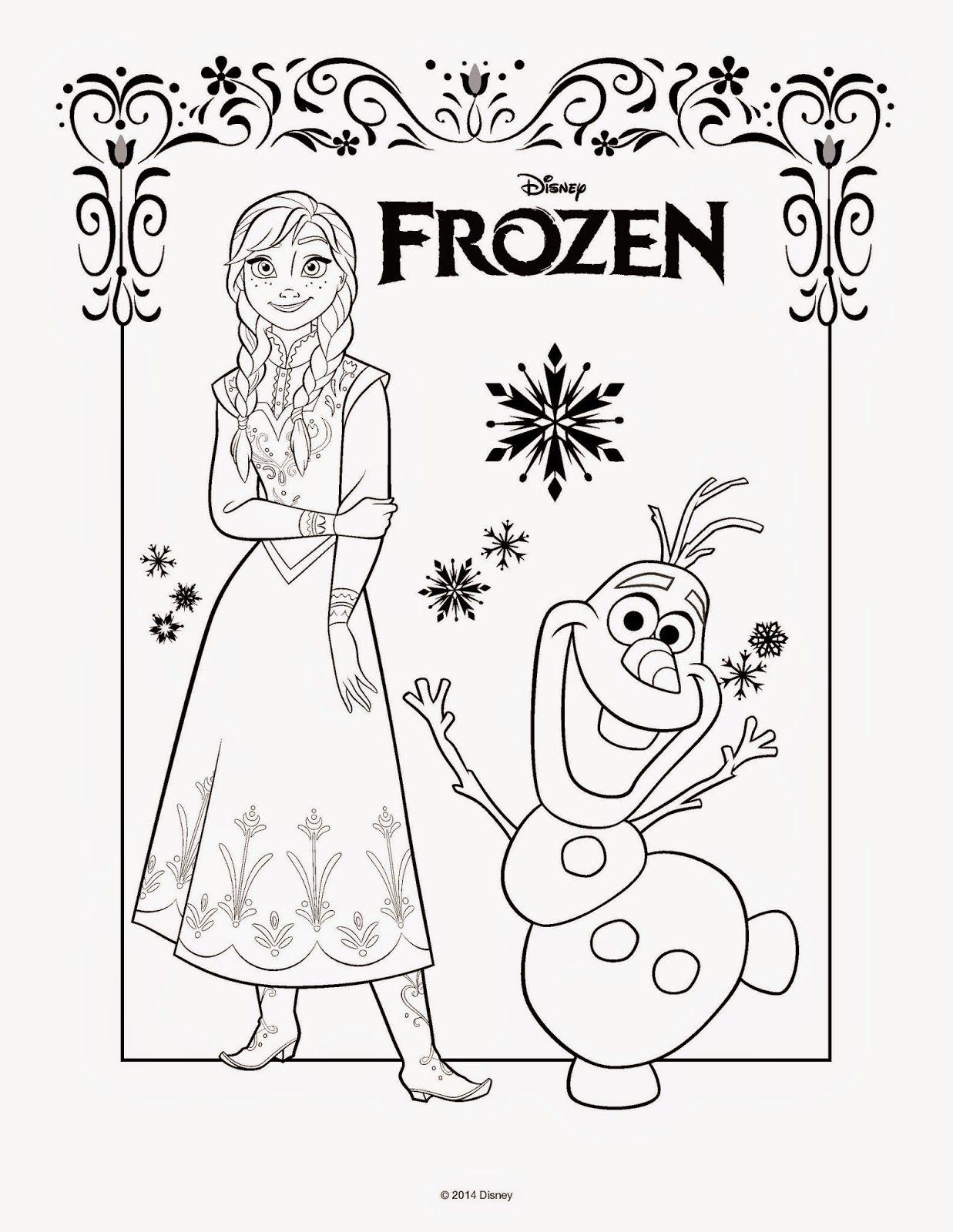 Desenho Para Pintar Boyama Sayfaları Pinterest Frozen Coloring