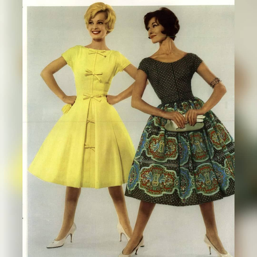 Lovely styles from Britain (1961) 🌸 ☀ 👗 😍    #50s     #truevintage     #1950s     #60s     #1960s  ...