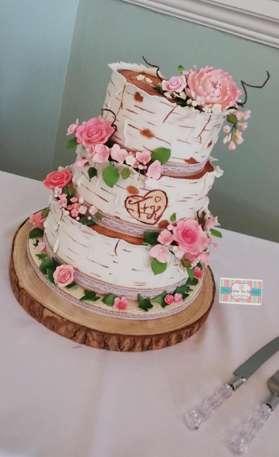 Pin on Semi-Naked Wedding Cake