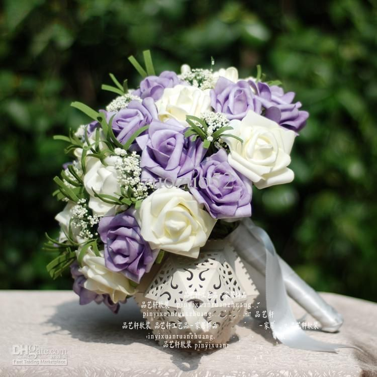 purple and white wedding flowers wholesale wedding bouquet buy light purple white pu rose