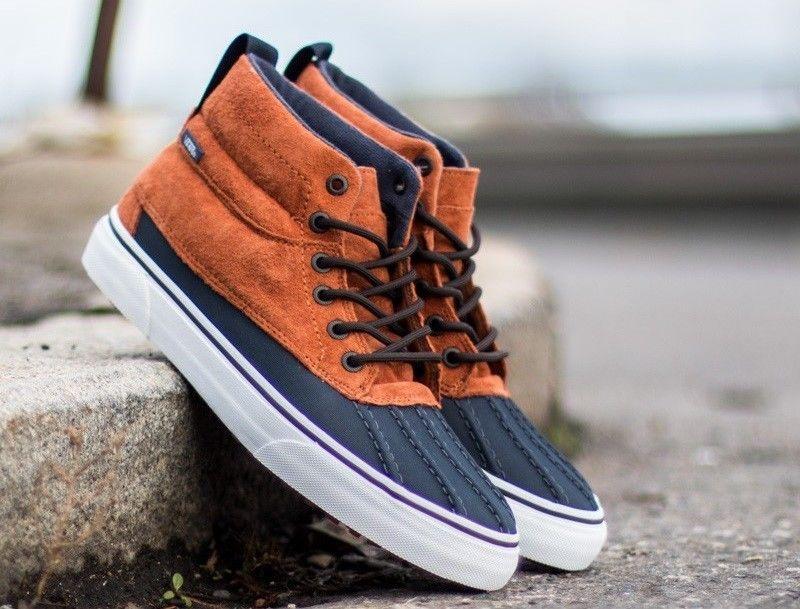 Men'S Vans Sk8 Hi Del Pato Mte The Athletic Shoes Mte Ginger Navy