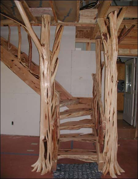 Best Trees As Porch Columns Staircase Made With Mountain 400 x 300