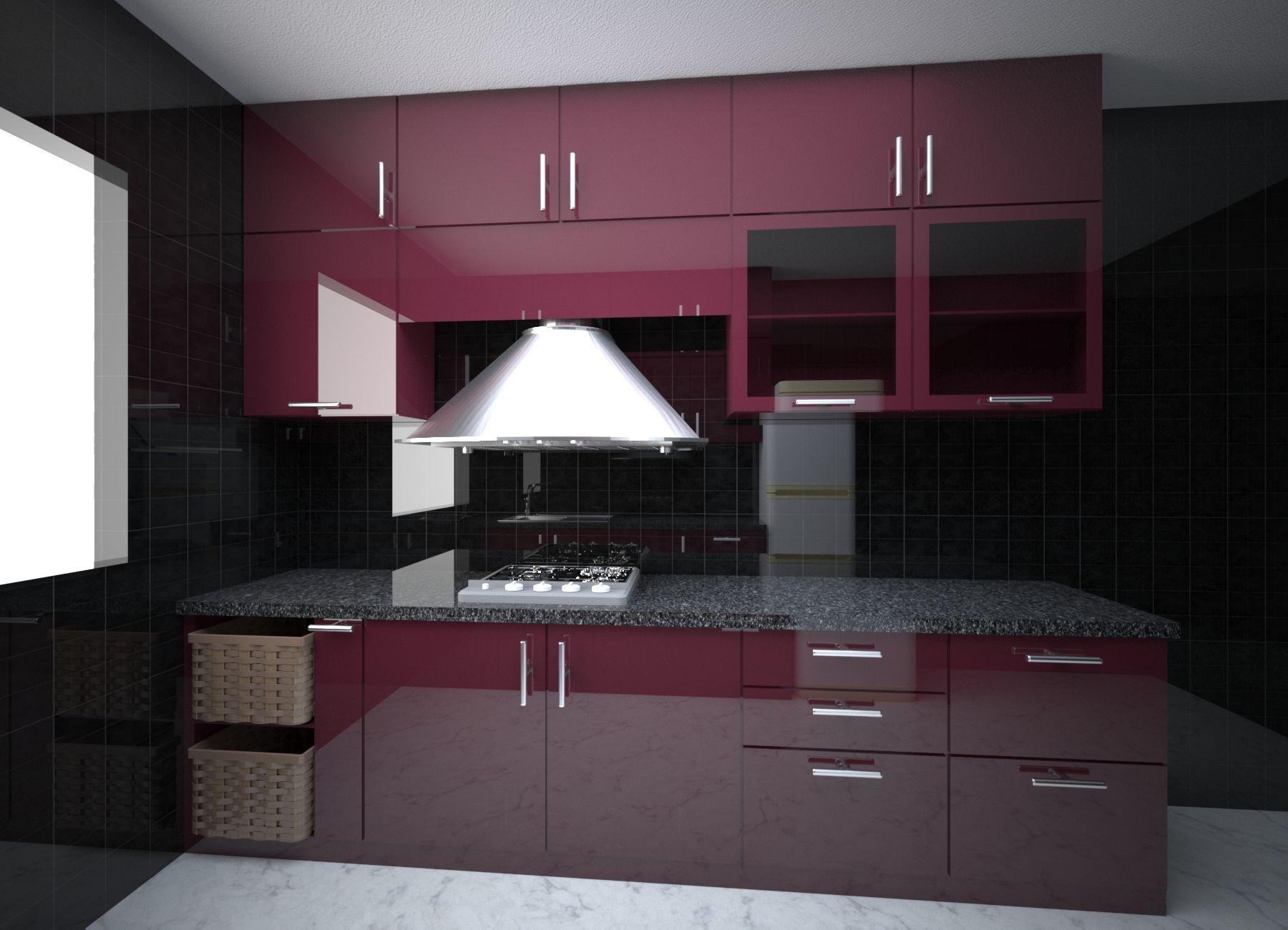 Modular Kitchen Interior Design Vegetable Basket Hob Chimney Include Tall Unit Interior Design Kitchen Residential Interior Design Kitchen Cabinet Design