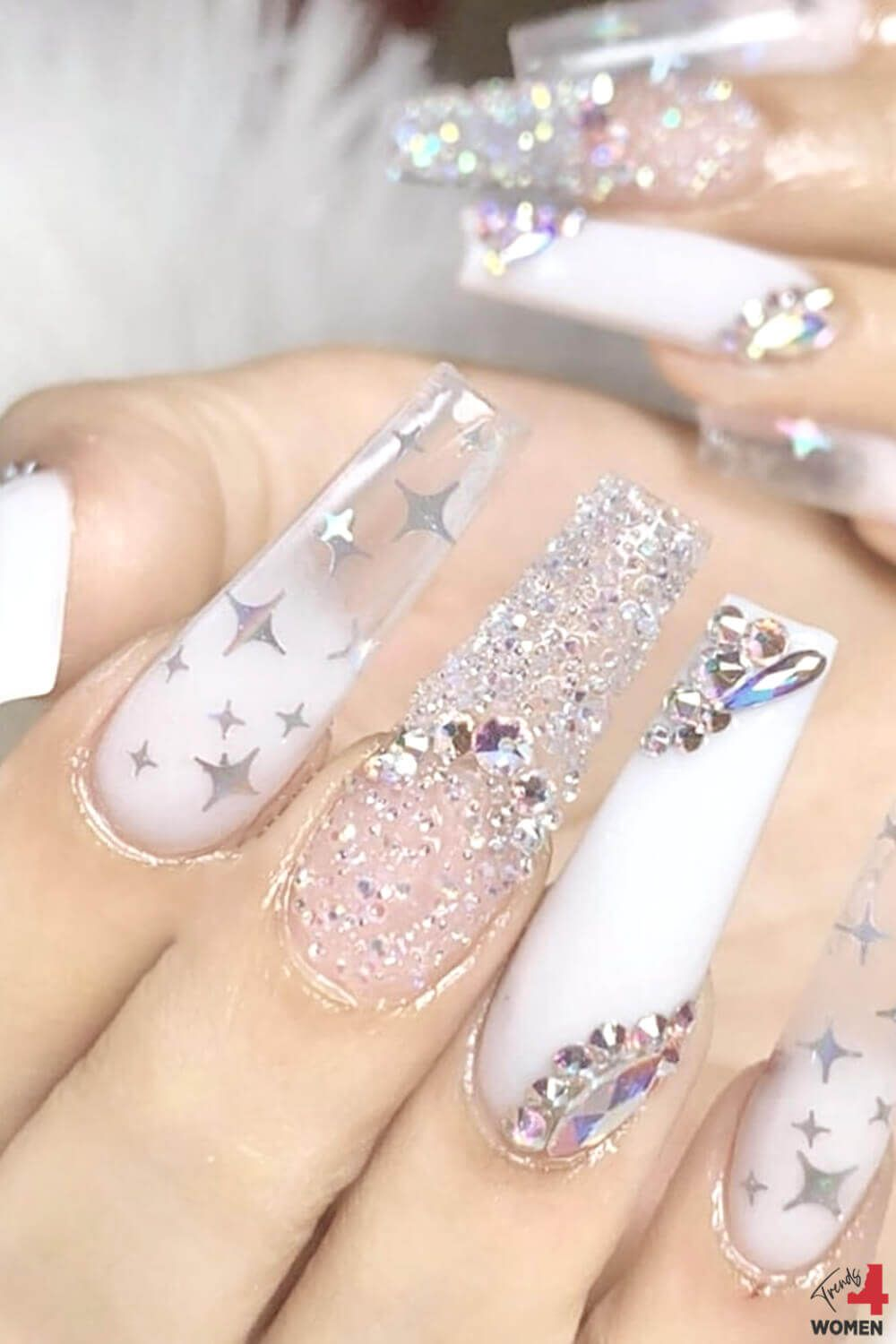 Superb Long Luxury Nail Design Tutorial In 2020 Luxury Nails Best Acrylic Nails Nail Designs