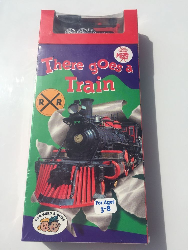 There Goes A Train VHS 1994 Comes With Toy Vhs Tapes