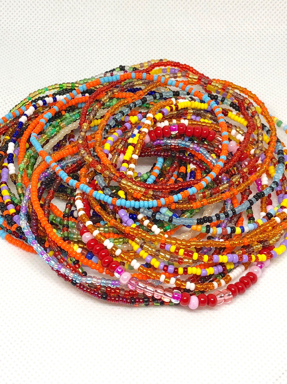 Beaded bracelet set african inspired bracelets stretch