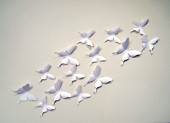 35 White 3D Butterfly Wall Art Circle By LeeShay On Etsy