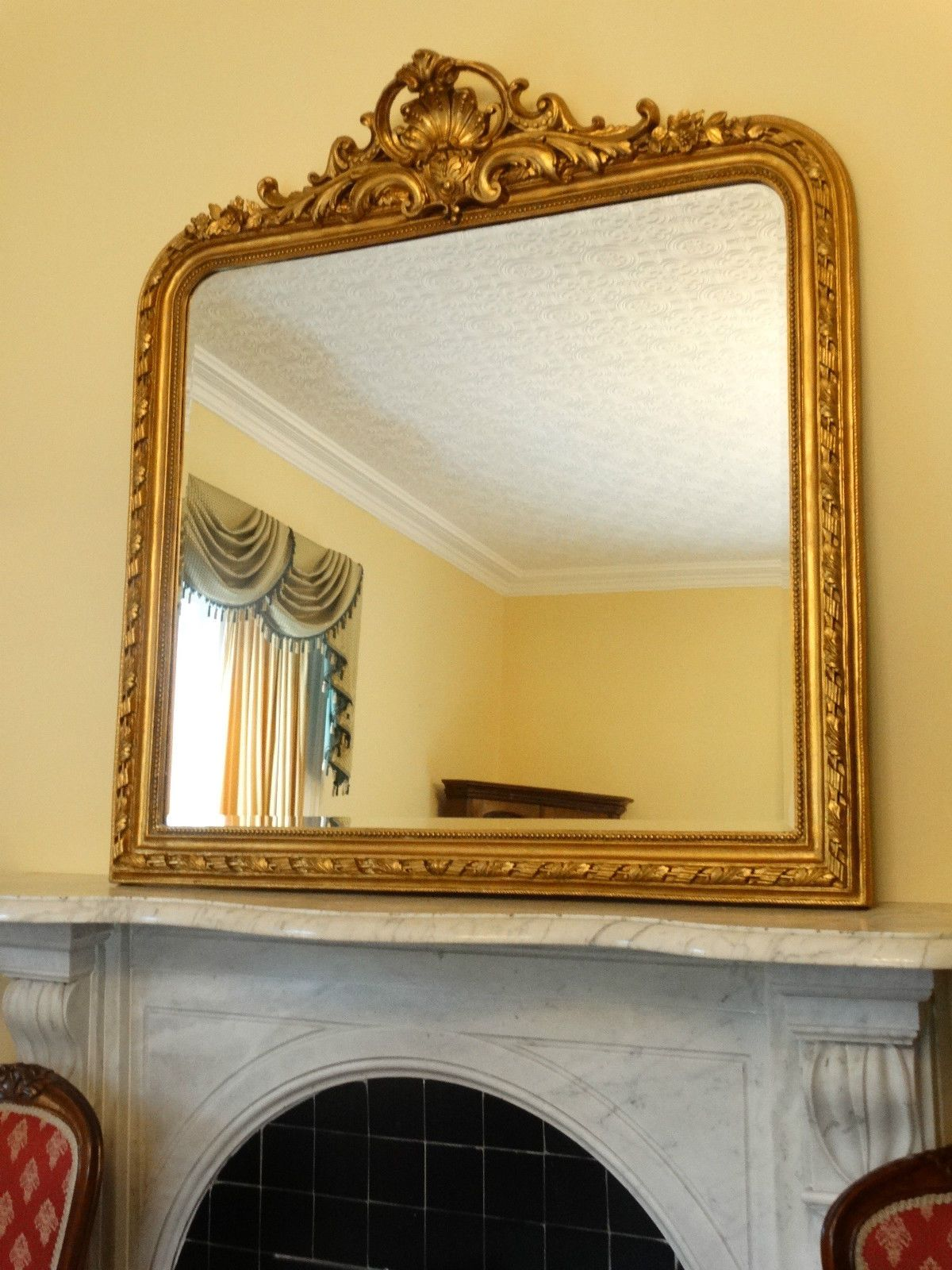 HUGE!!! New Reproduction Antique French Gold Gilt Wall hall mirror ...
