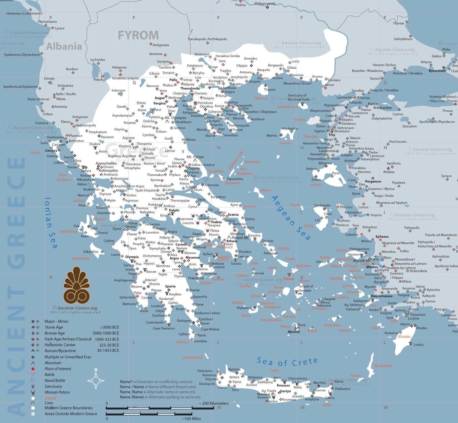 Ancient greece map greece pinterest ancient greece ancient greece map gumiabroncs Gallery