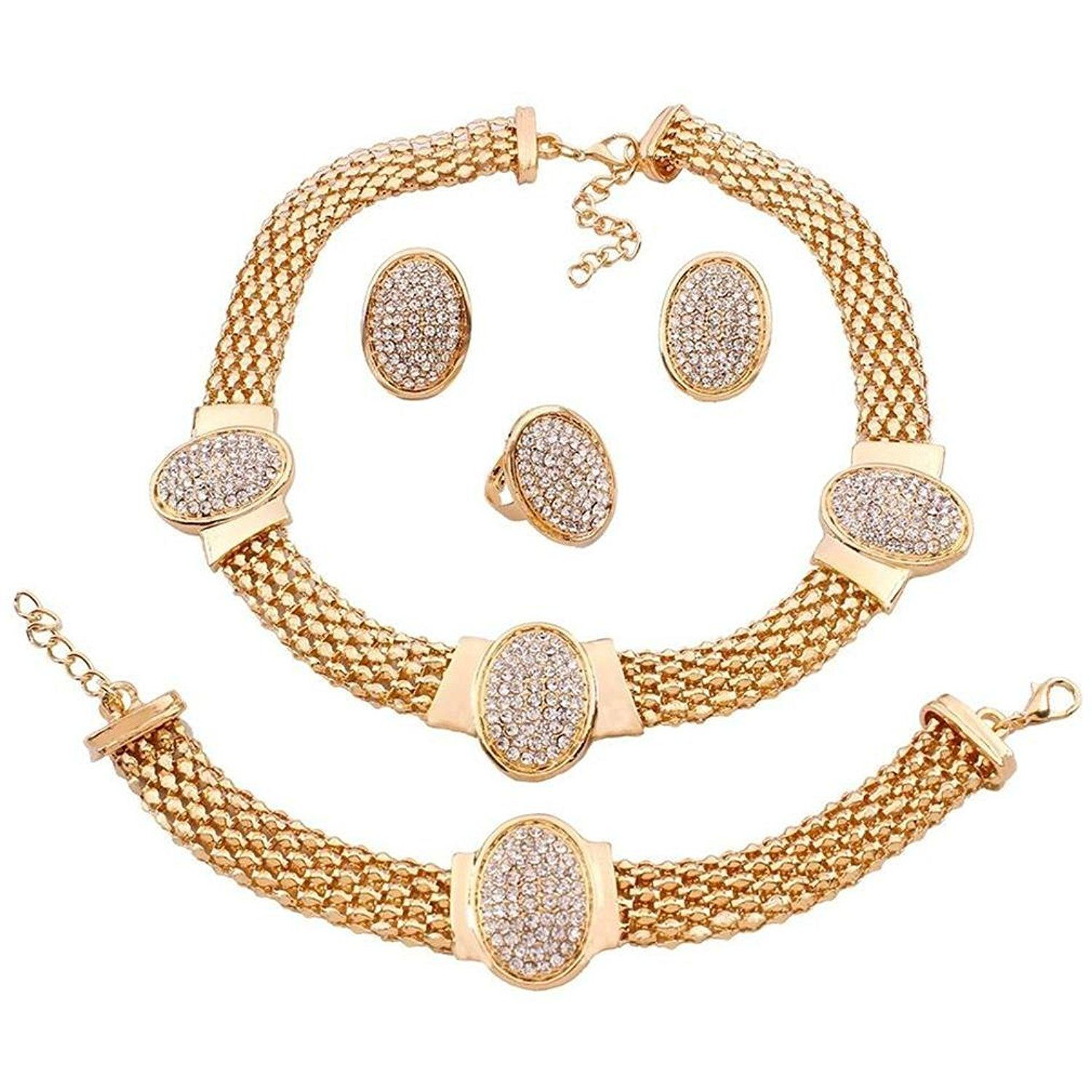 Hfjandyieandh european and american fashion jewelry sets necklace