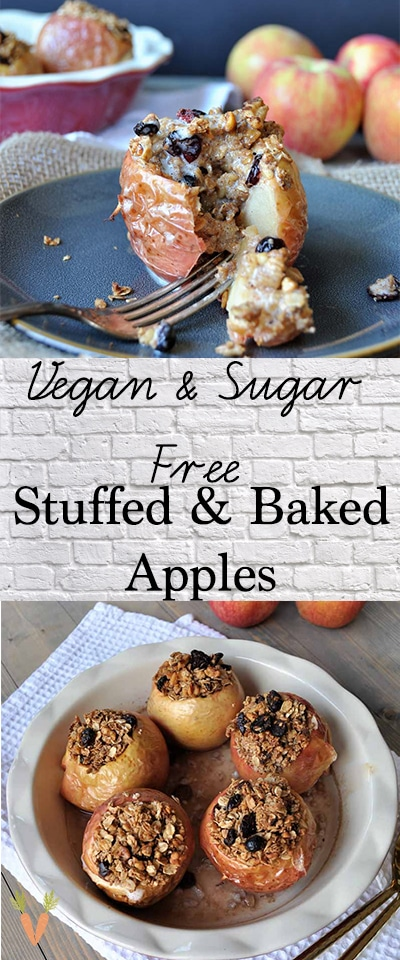 Sugar Free Stuffed Baked Apples Recipe Vegan Apple Dessert Healthy Apple Desserts Vegan Sweets