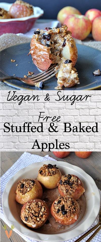 Sugar Free Stuffed Baked Apples Recipe Vegan Apple Dessert Healthy Apple Desserts Vegan Sweets