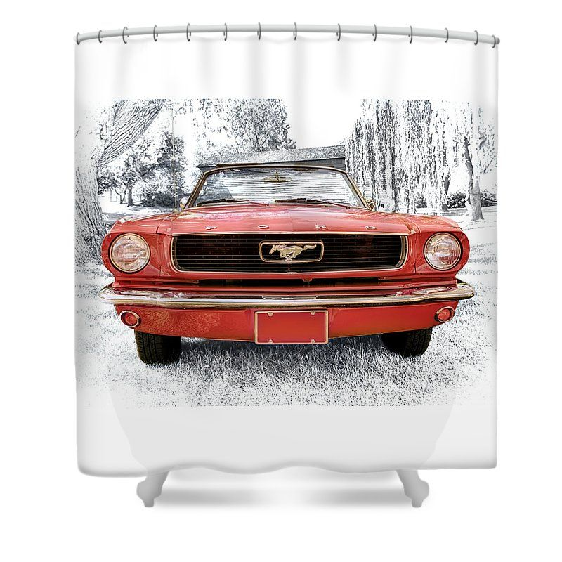 1966 Ford Mustang Shower Curtain For Sale By Susan Rissi Tregoning