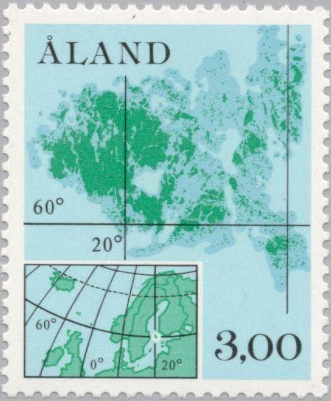 Sello: Map (Åland Islas) (Definitives) Mi:AX 5,Yt:AX 5,AFA:AX 5