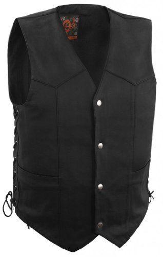 True Element Mens Basic Side Lace Adjustment Leather Motorcycle Vest (Black, X-Large) http://suliaszone.com/true-element-mens-basic-side-lace-adjustment-leather-motorcycle-vest-black-x-large/