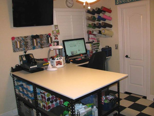 Merveilleux Craft Room Tour Lana At Studio 73 Creations And. Craft Desk With Storage  Desks Inside Work Table