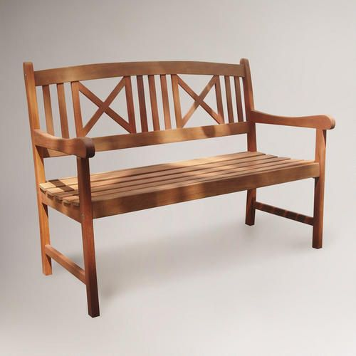 Wondrous Small Greenport Garden Bench Brown Green Natural Wood By Machost Co Dining Chair Design Ideas Machostcouk