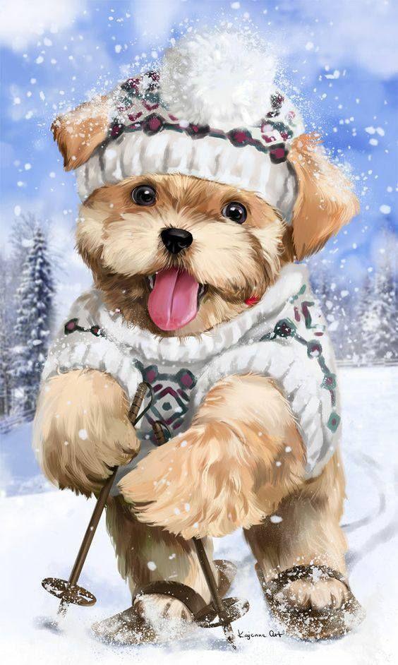 свадебное милые открытки с собаками любом случае, она