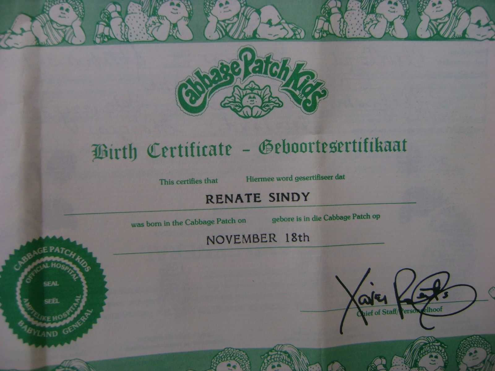 Vintage 1985 Coleco Cabbage Patch Kids Girl Doll In Box With Birth Certificate Ebay Cabbage Patch Kids Dolls Cabbage Patch Kids Cabbage Patch