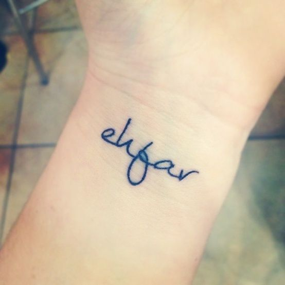 everything happens for a reason wrist tattoo. I really like this concept