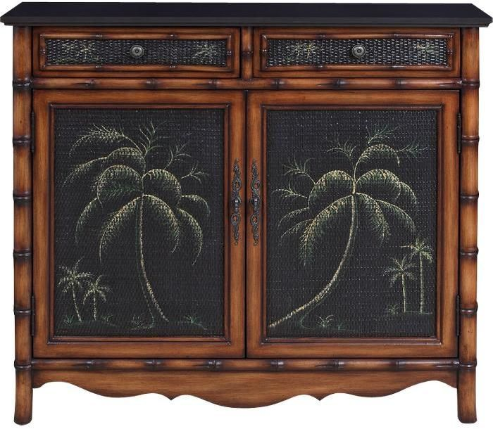 Tropical Style Storage Cabinets Palm Accent Cabinet Sold Out Thestylecure