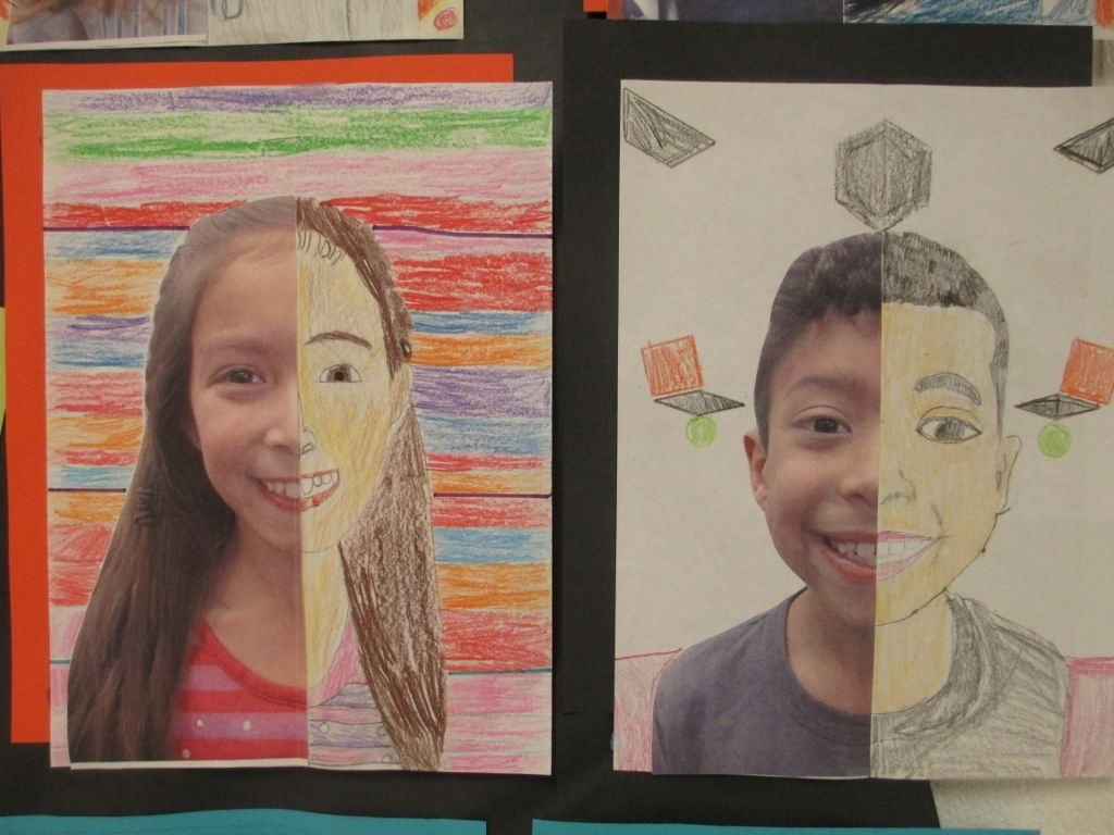 Math Meets Art Symmetry Self Portraits
