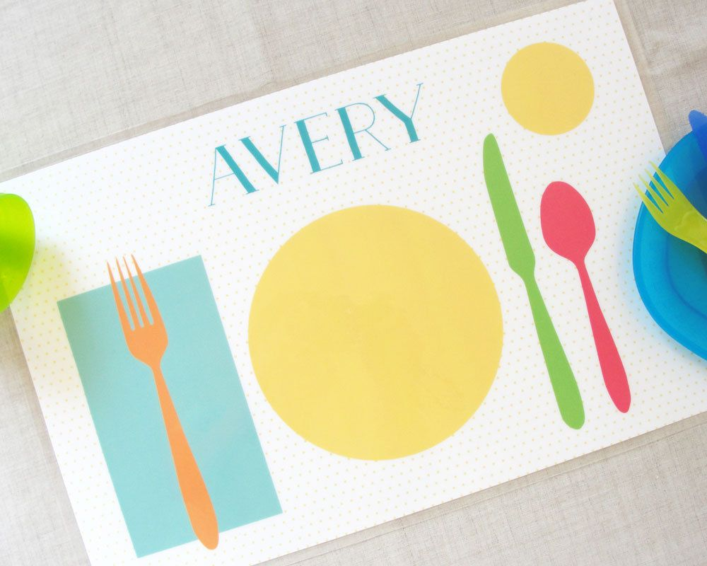 Set The Table Kids Personalized Placemant Placemats Kids Placemats Personalised Kids