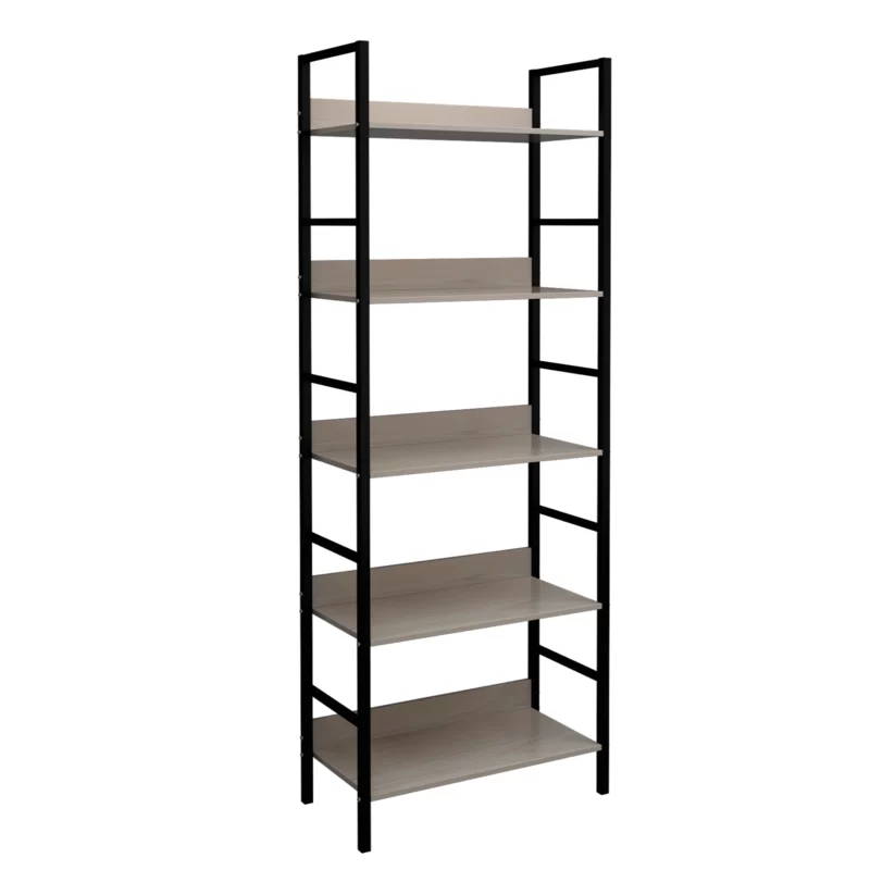 Chesley Wood And Metal Etagere Bookcase Etagere Bookcase Wood