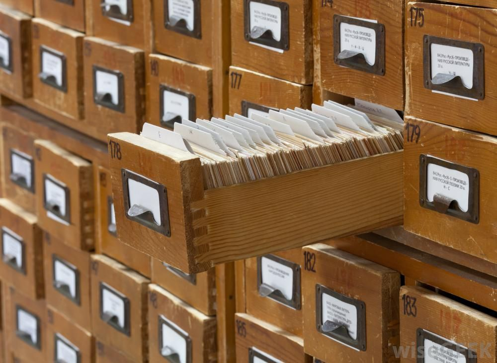 library index card file systems | old fashioned card