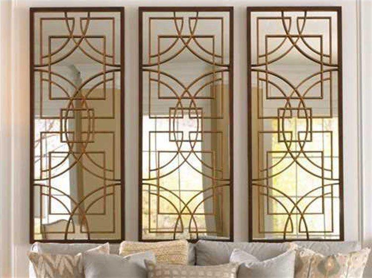 Bassett Mirror Old World 24 x 60 Rustic Bronze Osburn Wall ...