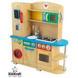 kidkraft cook together kitchen.. primary colors.. boyish pretend