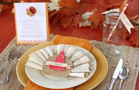 Fun DIY ideas for Thanksgiving table place settings via lilblueboo ...